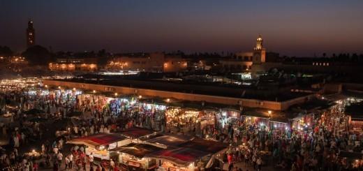 Marrakech trznica Jemaa el Fna