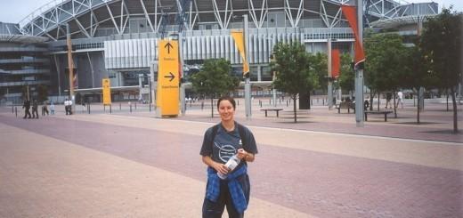 Pred Sydneyjskim olimpijskim stadionom