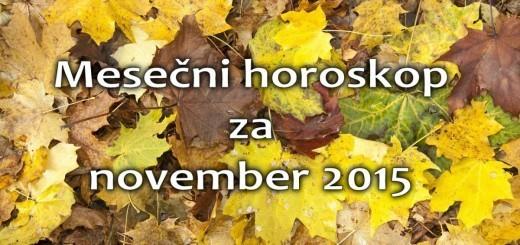 Mesečni horoskop za november 2015