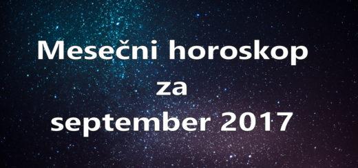 Mesečni horoskop za september 2017