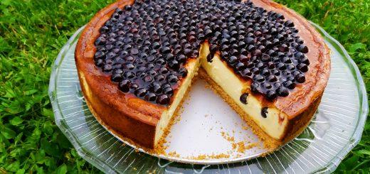 Cheesecake z borovnicami