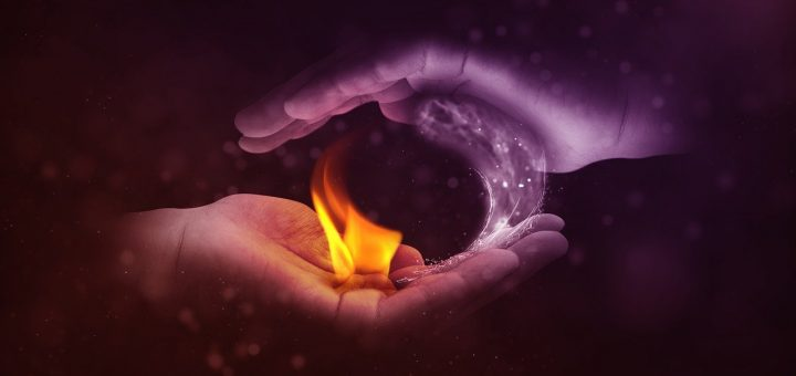 ogenj in voda